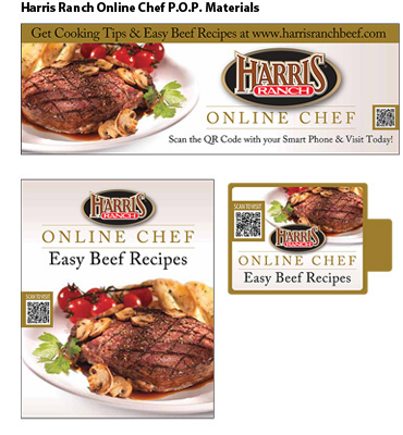 Harris Ranch Online Chef Easy Beef Recipes POP materials